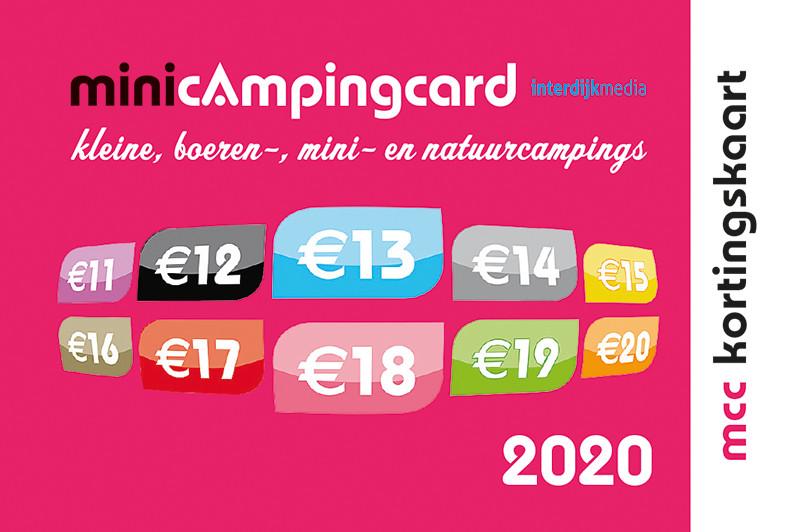 Met de Mini Camping Card MCC krijgt u in het laagseizoen korting bij Midicamping Burgh